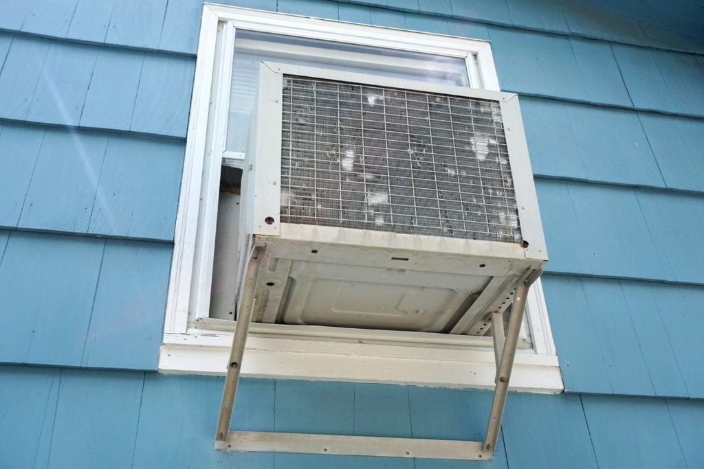 Window A/C unit.