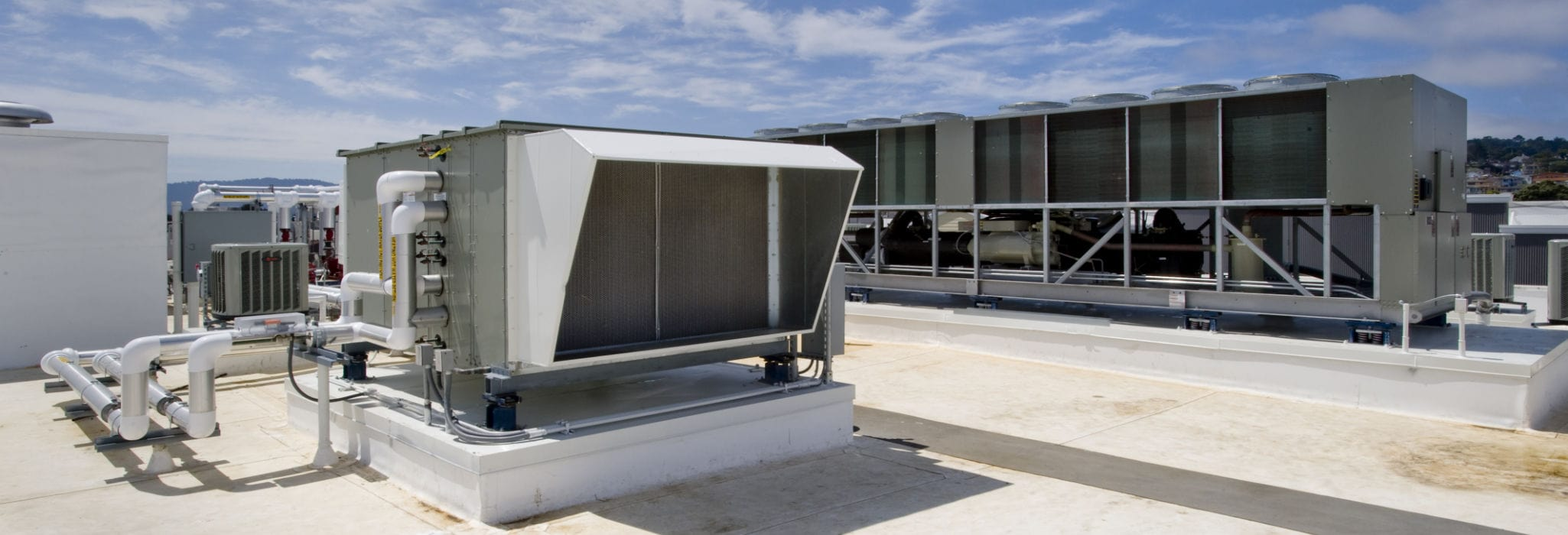 Large rooftop HVAC system.